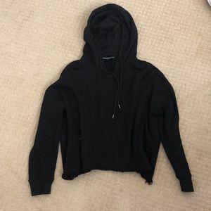 Brandy Melville Black Cropped Sweatshirt